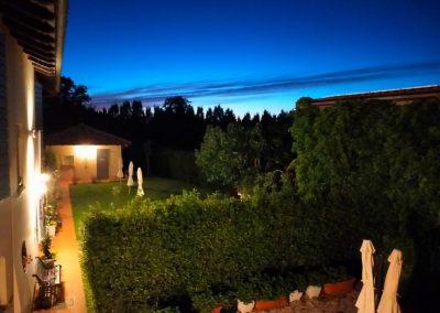 Panorama notturno in agriturismo Corte Roeli